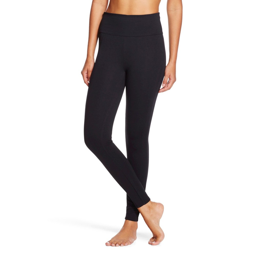 Assets By Spanx Women's Ponte Shaping Leggings - Black 1X