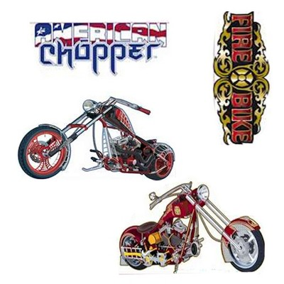 24pc Self-Stick Wall Accent Stickers Set - American Chopper..