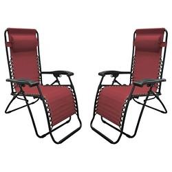 Caravan Global 2 Piece Infinity Zero Gravity Chair - Burgundy