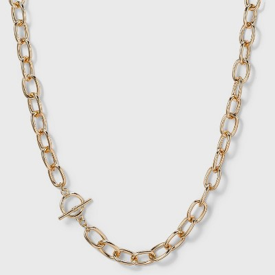 Toggle Chain Necklace - A New Day™ Gold