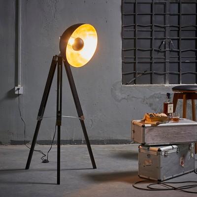 Versanora   Fascino Tripod Floor Lamp   Black/Gold (Lamp Only) : Target
