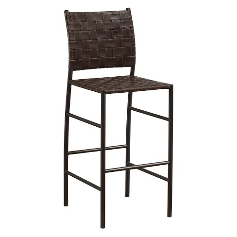 "Sarasota Bonded Leather Counter Stool -26""- Brown - American Heritage Billiards - image 1 of 4"