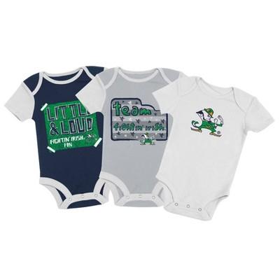 NCAA Notre Dame Fighting Irish Baby Boys' 3pc Bodysuit Set - 3-6M