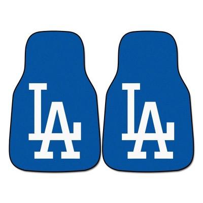 MLB Los Angeles Dodgers Carpet Car Mat Set - 2pc