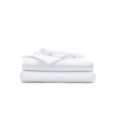 King 500 Thread Count Extra Luxe Solid Sheet Set White - Miracle Brand