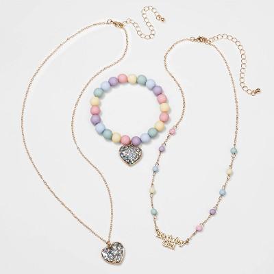 Girls' 3pk Birthday Necklace Set - Cat & Jack™