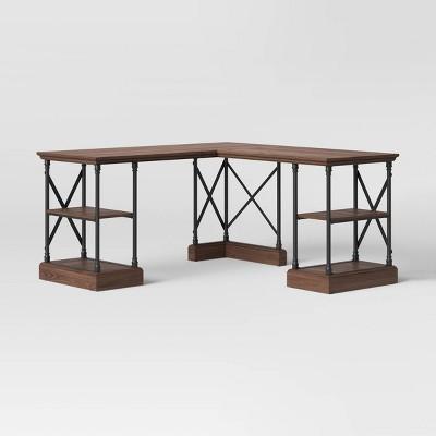L Shaped Conway Desk Espresso Brown - Threshold™