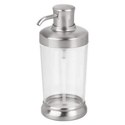 Round Soap Pump Dispenser Matte Silver - InterDesign®
