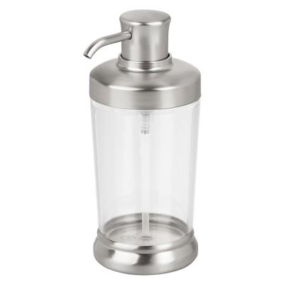 Round Soap Pump Dispenser Matte Silver - iDESIGN