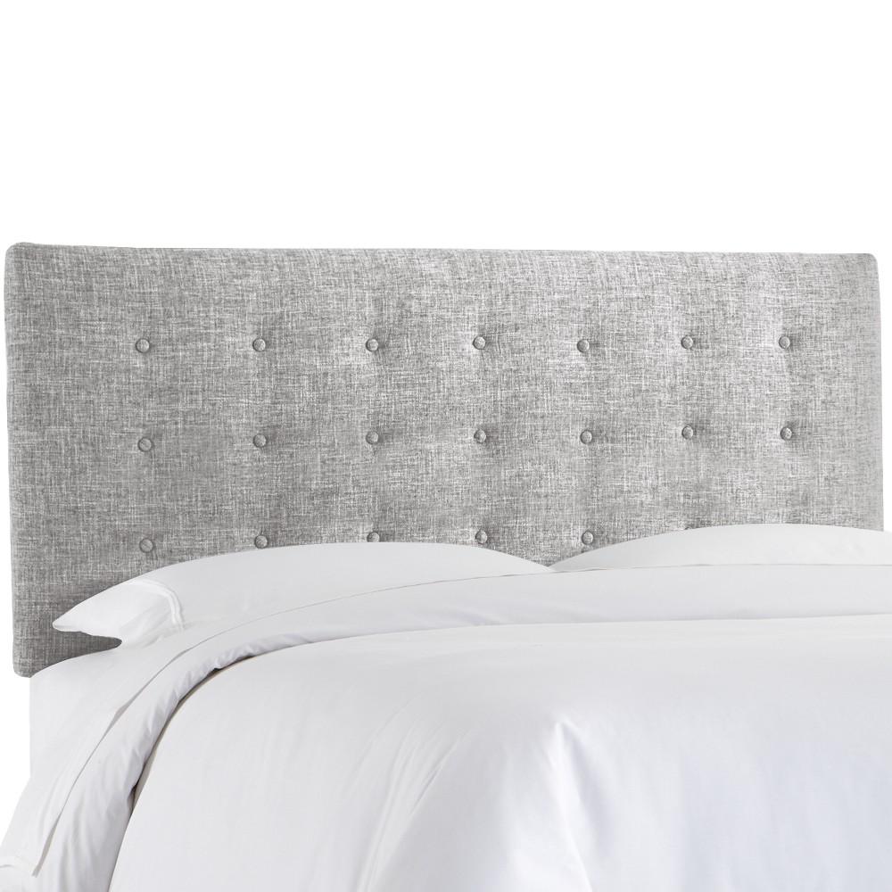 Upholstered Button Headboard California King Zuma Pumice - Skyline Furniture