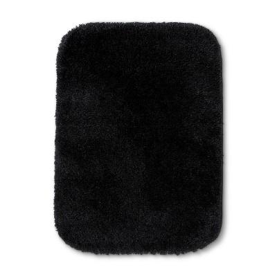 24 x17  Solid Bath Rug Black - Room Essentials™