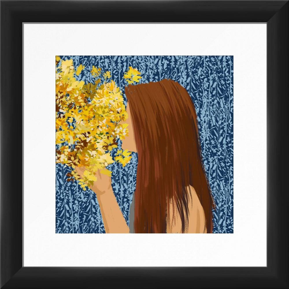 13 34 X 13 34 Flower Kiss Framed Wall Art Black Ptm Images