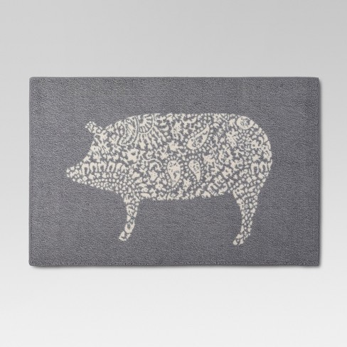 Gray Kitchen Rug Pig 30 Quot X46 Quot Threshold Target