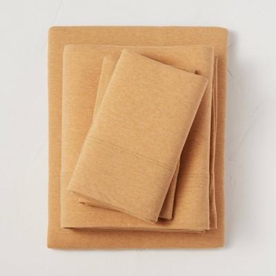 Queen Jersey Solid Sheet Set Honey - Casaluna™