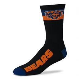 NFL Chicago Bears La Raya Adaptive Crew Socks - L