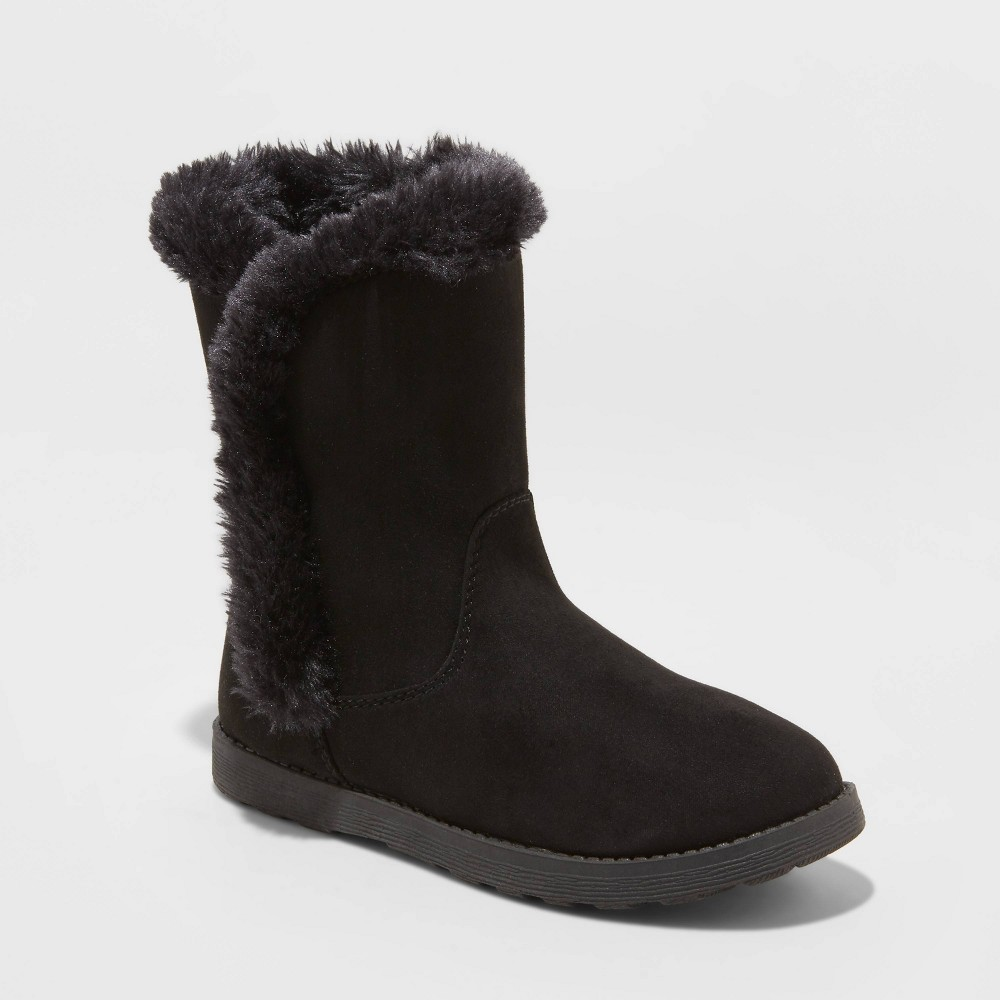 Image of Girls' Hadlee Shearling Boots - Cat & Jack Black 2