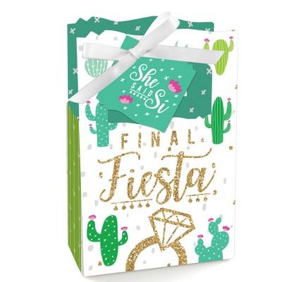 Big Dot of Happiness Final Fiesta - Last Fiesta Bachelorette Party Favor Boxes - Set of 12