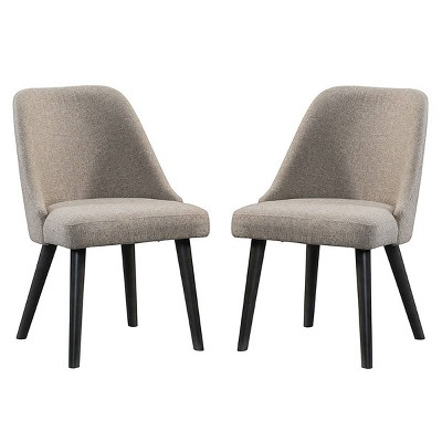Set of 2 Urban Rustic Mid Century Side Chair Brushed Wheat - Intercon