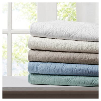 Blue Mansfield Oversized Quilted Throw Blankets (60 x70 )