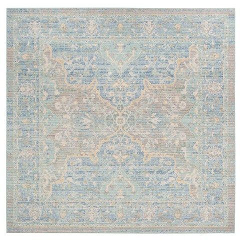 Blue Medallion Loomed Square Area Rug 6 X6 Safavieh Target