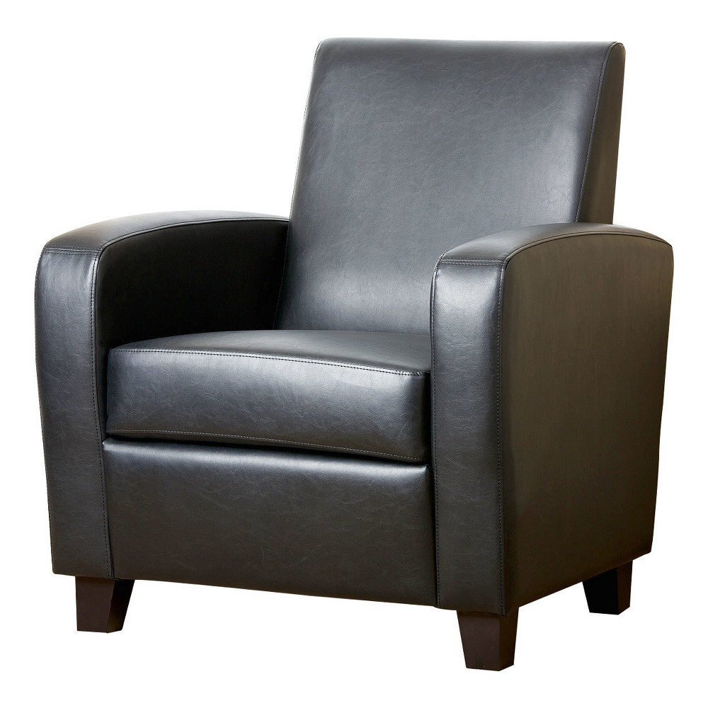 Bailey Club Chair Leather Dark Black - Abbyson Living was $370.99 now $278.24 (25.0% off)