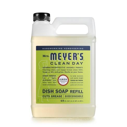 Mrs. Meyer's Lemon Verbena Liquid Dish Refill - 48 fl oz - image 1 of 1
