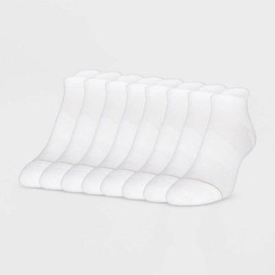 All Pro Women's Heel Toe Cushioned 6+2 Bonus Pack No Show Tab Athletic Socks - White 4-10