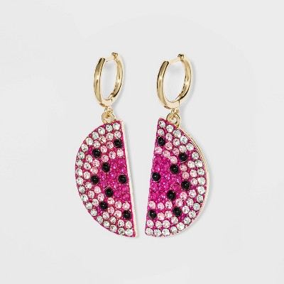SUGARFIX by BaubleBar Crystal Melon Drop Earrings - Pink