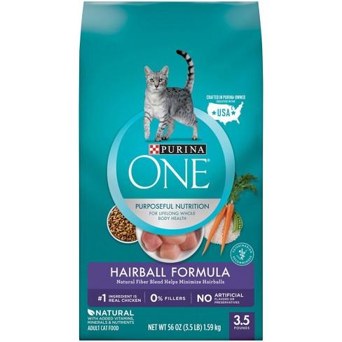 Purina ONE Hairball Formula Adult Premium Dry Cat Food - image 1 of 4