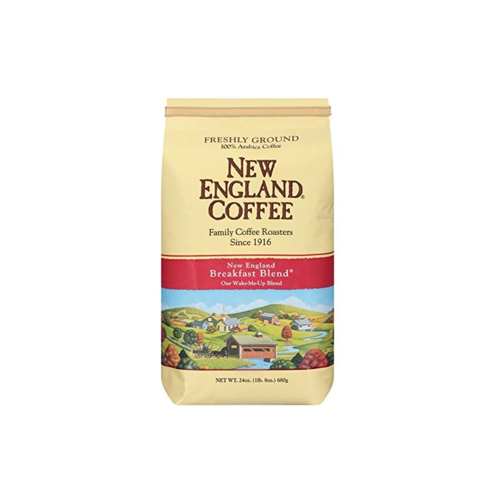 New England Coffee Breakfast Blend Medium Roast Ground Coffee 24oz