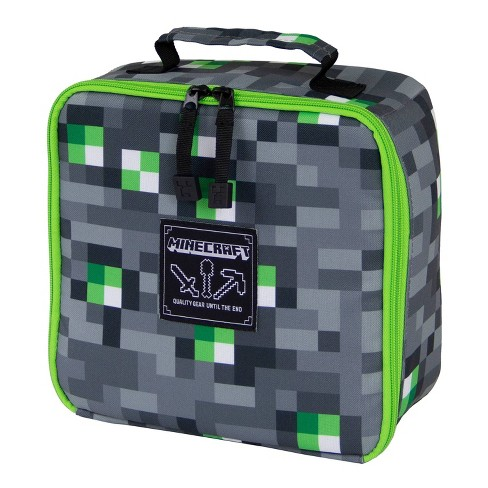 Minecraft Emerald Block Lunch Bag - Gray - image 1 of 4