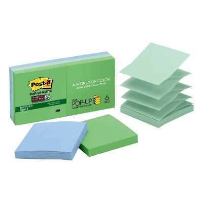 """Post-it 6pk Super Sticky Pop-up Notes 3""""x3"""""""
