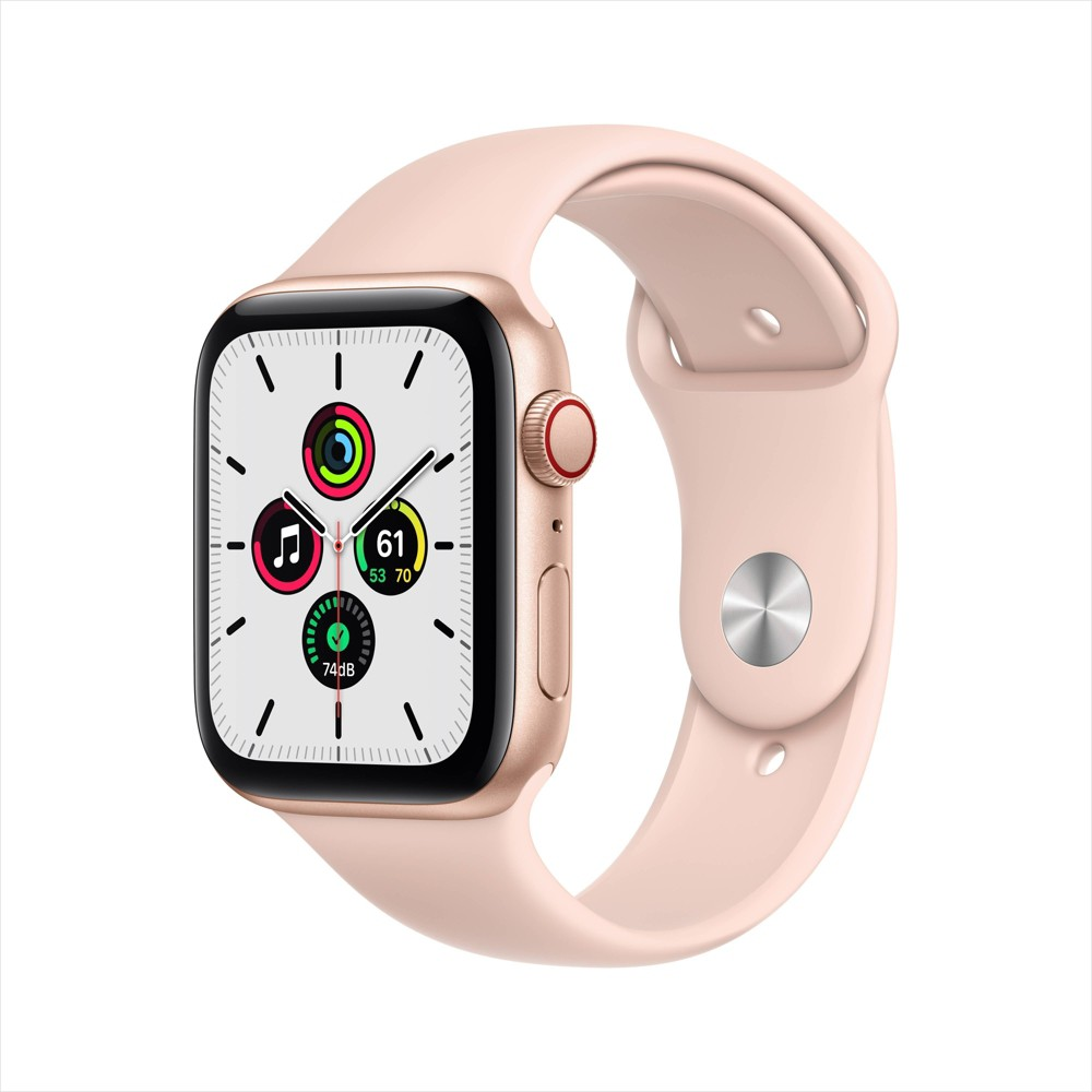 Apple Watch SE GPS + Cellular, 40mm Gold Aluminum Case with Pink Sand Sport Band