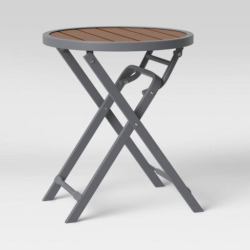 Bryant Faux Wood Patio Folding Accent Table - Project 62™ - image 1 of 4