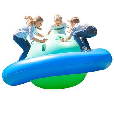 HearthSong Rock With It! Giant Inflatable Dome Rocker with Six Handles, for Kids' Outdoor Active Play