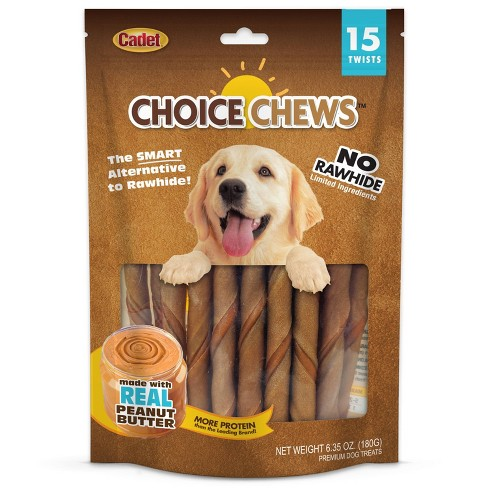 Cadet Choice Chews Peanut Butter Twists Dog Treats - 15ct - image 1 of 2