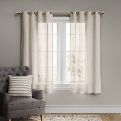 Textured Weave Light Filtering Curtain Panel - Threshold™
