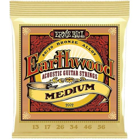 Ernie Ball 2002 Earthwood 80/20 Bronze Medium Acoustic Guitar Strings - image 1 of 2