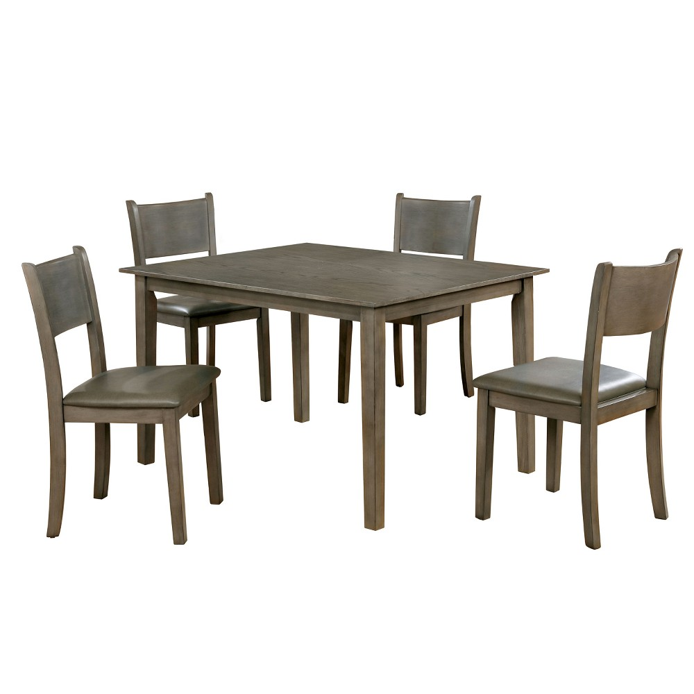 Image of 5pc Norfama Transitional Wood Dining Set Gray - ioHOMES
