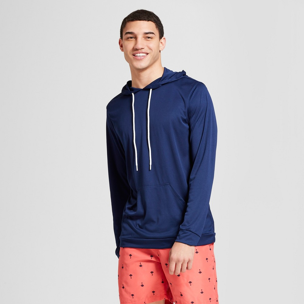 Trunks Men's Rash Guard Hoodie - Navy (Blue) XL