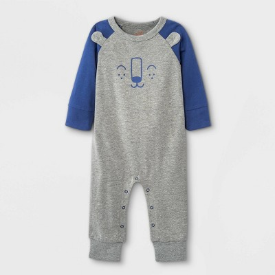 Baby Boys' Bear Romper - Cat & Jack™ Gray 3-6M