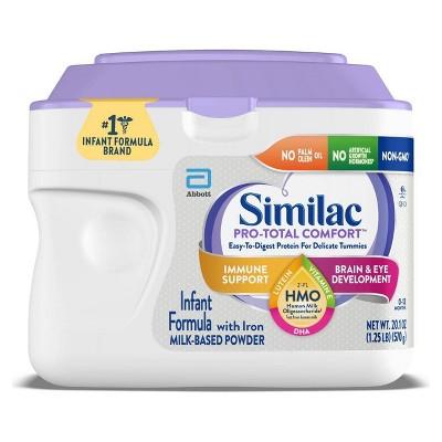 Similac Pro-Total Comfort Non-GMO Infant Formula with Iron Powder - 20.1oz