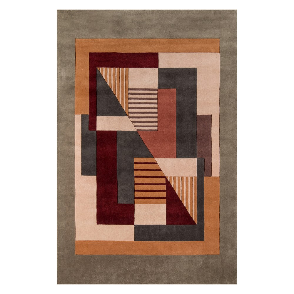 8'X11' Geometric Tufted Area Rug - Momeni, Multi-Colored