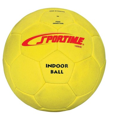 Sportime Fuzzy-Suede Indoor Soccer Ball, Number/Size 4, Yellow