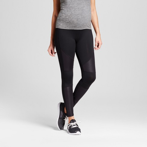 Maternity Crossover Panel Active Moto Leggings - Isabel Maternity by Ingrid & Isabel™ Black - image 1 of 4