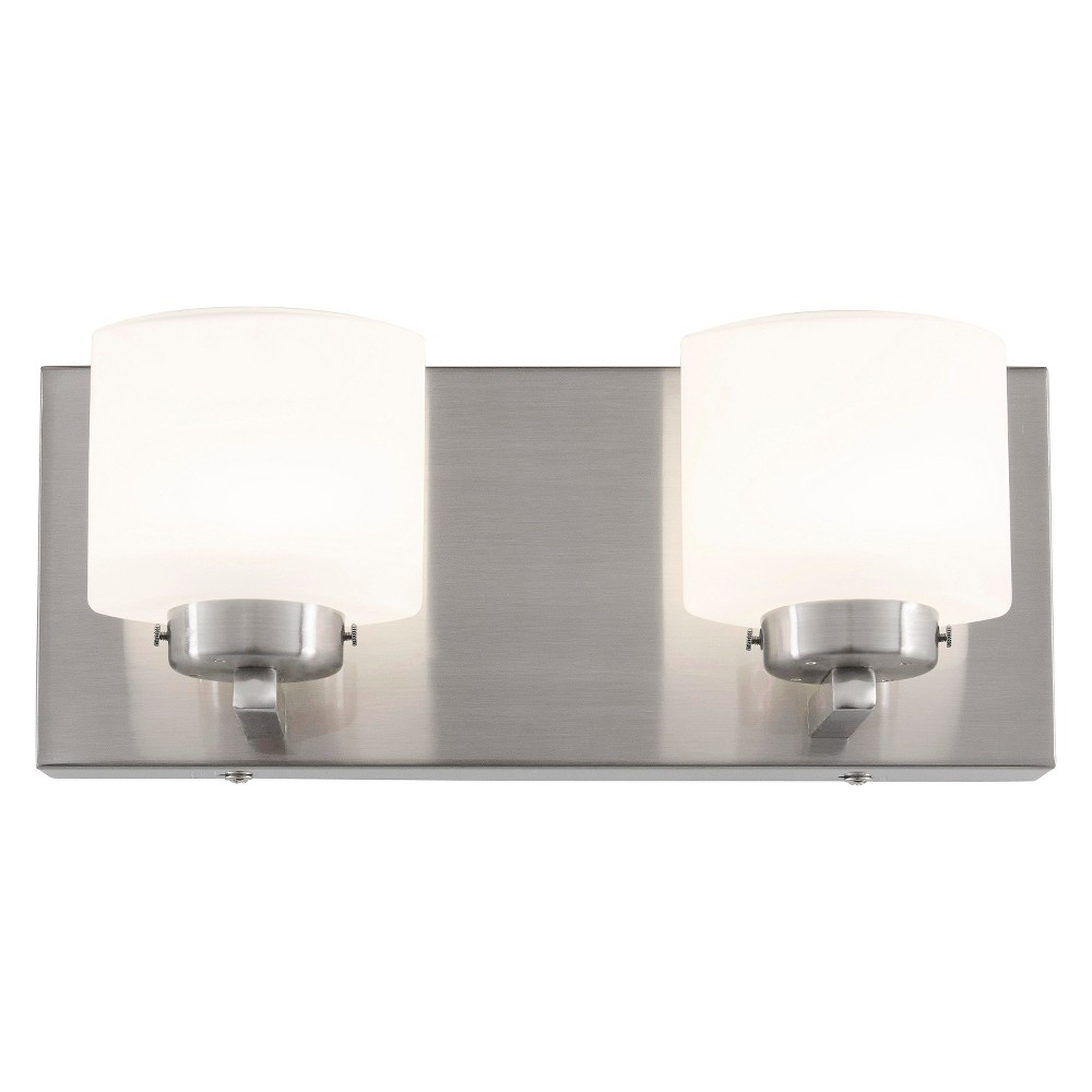 Image of Clean 2-Light LED Vanity - Satin Nickel