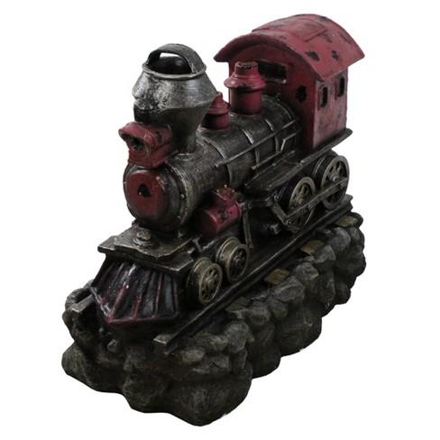 "Northlight 27.5"" Prelit LED Vintage Locomotive Train Spring Outdoor Patio Garden Water Fountain - Red/Black - image 1 of 3"