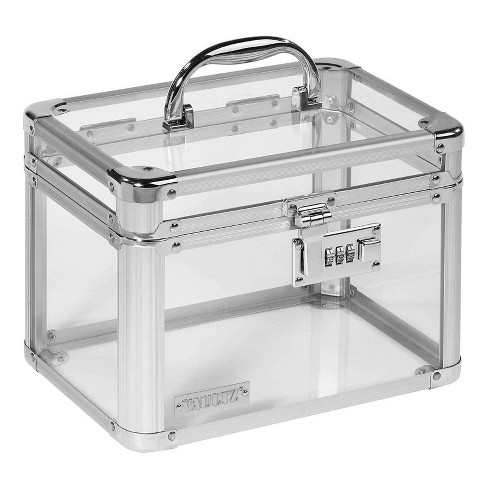 Vaultz Personal Storage Box with Combination Lock - Clear - image 1 of 3