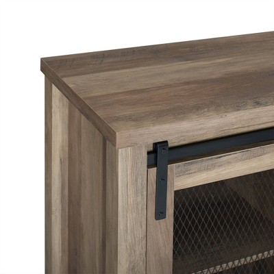 """Industrial Farmhouse Sliding Doors TV Stand For TVs Up To 65"""" - Saracina Home : Target"""