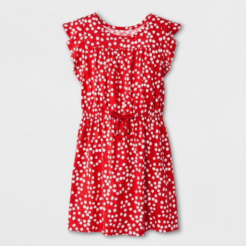 05e6b5b22 Girls  Star Print Americana Dress - Cat   Jack™ Red   Target